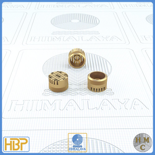 10mm Taper Slotted Brass Core Vents