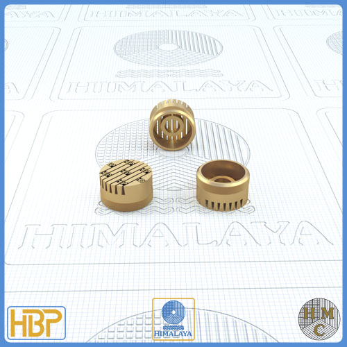 12mm Taper Slotted Brass Core Vents