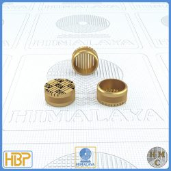 14mm Parallel Slotted Brass Core Vents