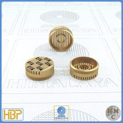 18mm Taper Slotted Brass Core Vents