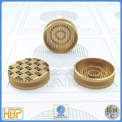 25mm Parallel Slotted Brass Core Vents