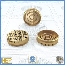 25mm Taper Slotted Brass Core Vents