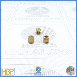 6mm Taper Slotted Brass Core Vents