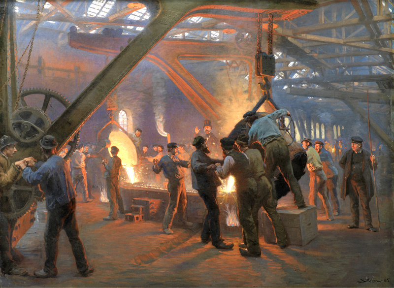 Foundry painting by Burmeister Wain from 1885
