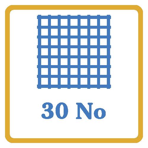 30 Nos Screen Mesh Vents