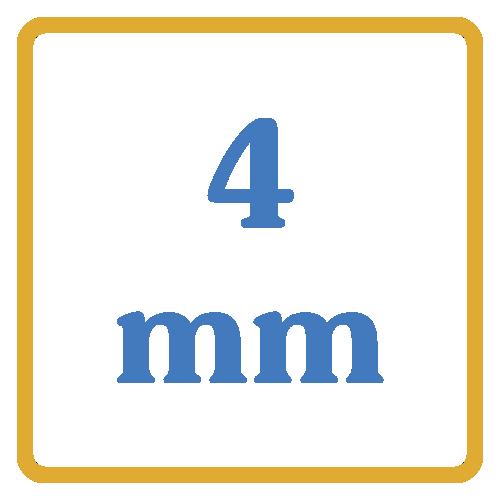 4 mm core vents