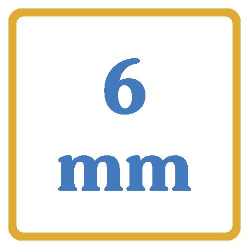 6 mm core vents