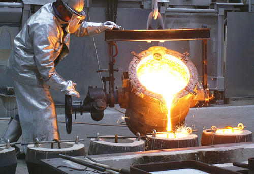 Pouring of molten metal